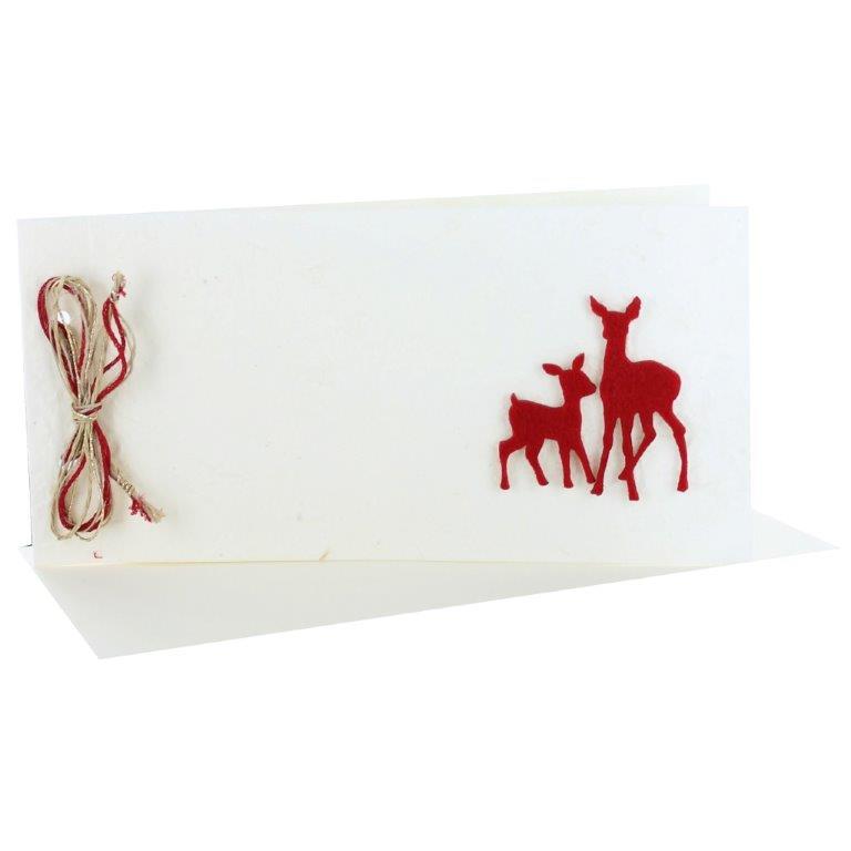 Design Weihnachtskarte mit Schleife