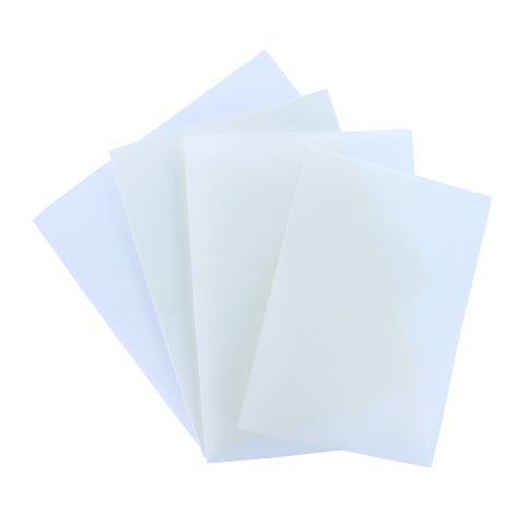 Einlegeblätter DIN A 4 transparent und creme