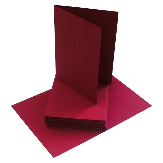 blanko Klappkarten DIN A 6 mit Umschlag in bordeaux