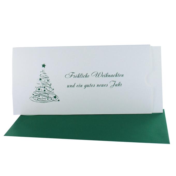 Fotogrußkarten Weihnachten DIN lang quer mit Aufdruck