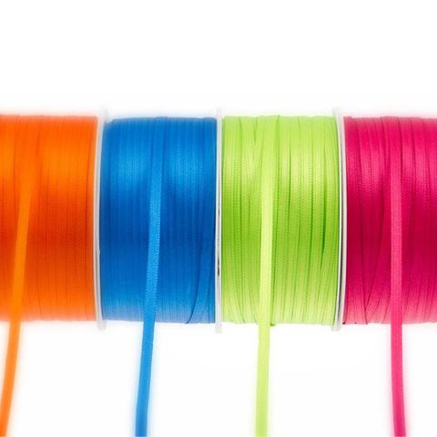 Satinbänder 4 Rollen in verschiedenen Farben